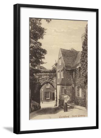 Guildford, Castle Gateway--Framed Photographic Print