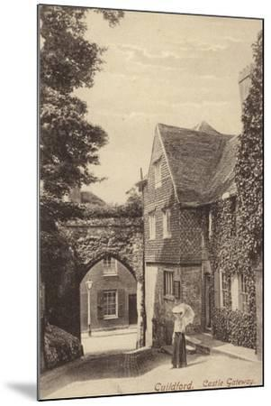 Guildford, Castle Gateway--Mounted Photographic Print