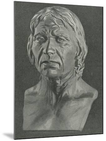 Bust of a Cro-Magnon Man--Mounted Giclee Print