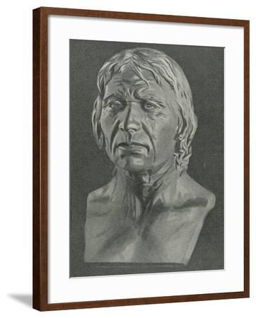 Bust of a Cro-Magnon Man--Framed Giclee Print