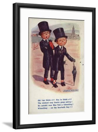 Two Men Dismayed at Behaviour on the Sabbath--Framed Giclee Print
