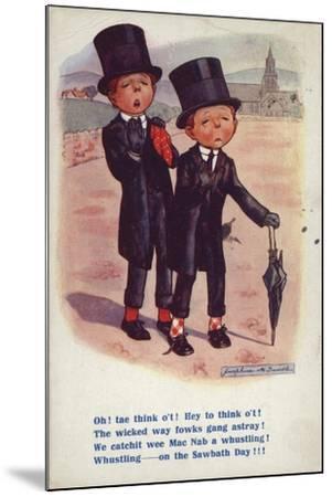 Two Men Dismayed at Behaviour on the Sabbath--Mounted Giclee Print