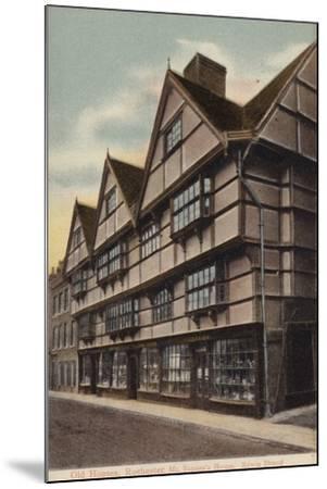 Mr Sapsea's House, Edwin Drood--Mounted Photographic Print