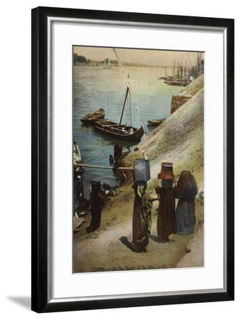 Cairo - on the Banks of the Nile--Framed Photographic Print