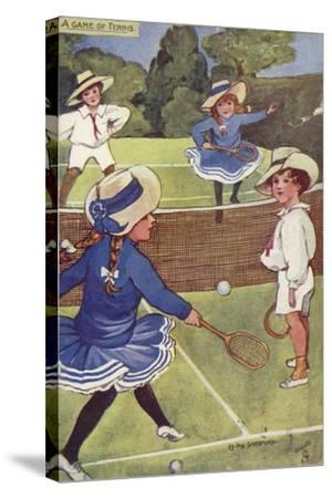 A Game of Tennis--Stretched Canvas Print