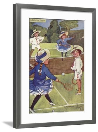 A Game of Tennis--Framed Giclee Print