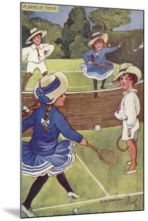 A Game of Tennis--Mounted Giclee Print