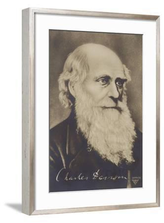Charles Darwin--Framed Giclee Print