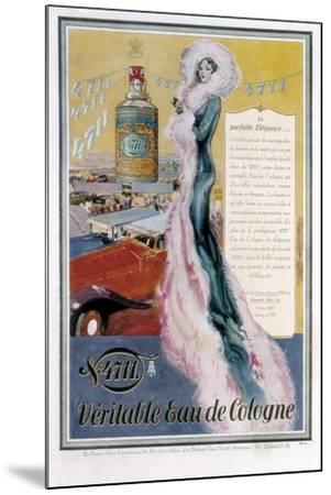 Advertisement for '4711' Eau De Cologne, 1931--Mounted Giclee Print