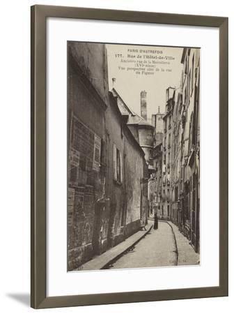 Postcard Depicting Old Paris--Framed Photographic Print