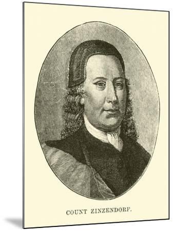 Count Zinzendorf--Mounted Giclee Print