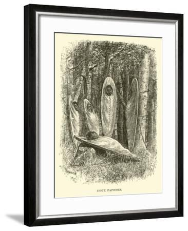 Sioux Papooses--Framed Giclee Print