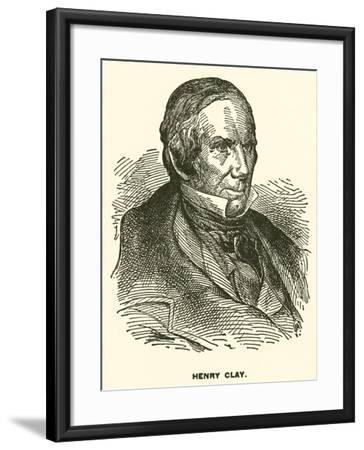 Henry Clay--Framed Giclee Print