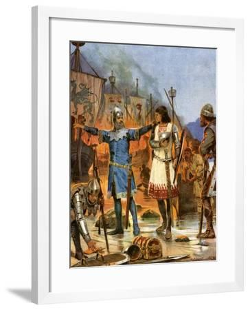 Fitzstephen Burns His Boats, 1169-Richard Caton Woodville II-Framed Giclee Print