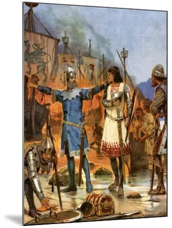 Fitzstephen Burns His Boats, 1169-Richard Caton Woodville II-Mounted Giclee Print