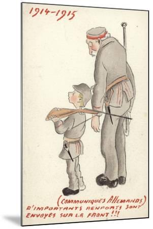 Young and Old German Soldiers Looking Forlorn--Mounted Giclee Print