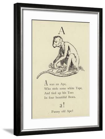 The Letter A-Edward Lear-Framed Giclee Print