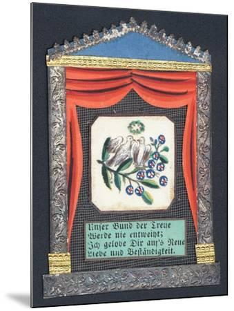 German Greetings Card--Mounted Giclee Print
