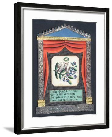 German Greetings Card--Framed Giclee Print