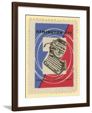 Remington Typewriters--Framed Giclee Print