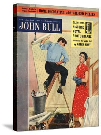 Front Cover of 'John Bull', March 1953--Stretched Canvas Print