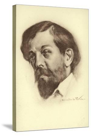 Claude Debussy, French Composer--Stretched Canvas Print