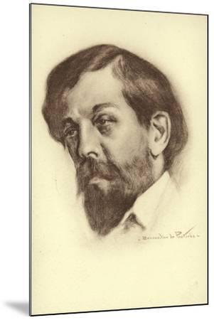 Claude Debussy, French Composer--Mounted Giclee Print