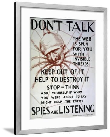 """""""Don't Talk"""", C.1918--Framed Giclee Print"""
