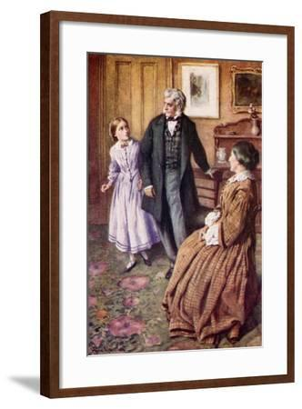 """""""Oh, Sir! They Do Care, Very, Very Much!""""-Harold Copping-Framed Giclee Print"""