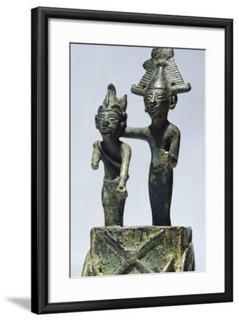 Two Figures on Cart, Bronze Artifact from Tortosa--Framed Photographic Print