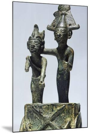 Two Figures on Cart, Bronze Artifact from Tortosa--Mounted Photographic Print