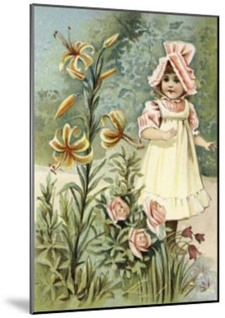 """""""We Can Talk,"""" Said the Tiger-Lily--Mounted Giclee Print"""