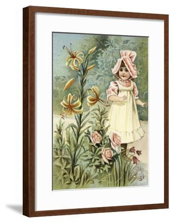 """""""We Can Talk,"""" Said the Tiger-Lily--Framed Giclee Print"""