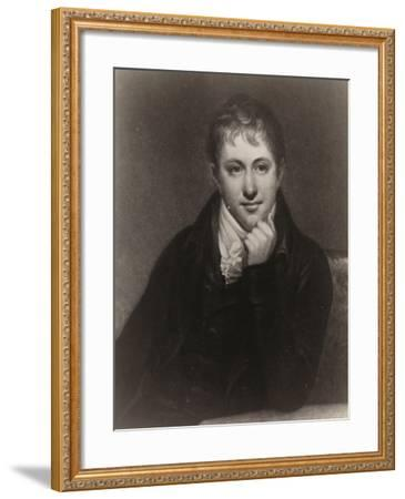 Sir Humphry Davy--Framed Giclee Print