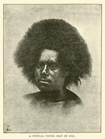 A Typical Young Man of Fiji--Framed Giclee Print