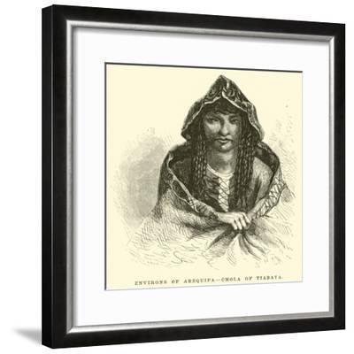 Environs of Arequipa, Chola of Tiabaya-?douard Riou-Framed Giclee Print