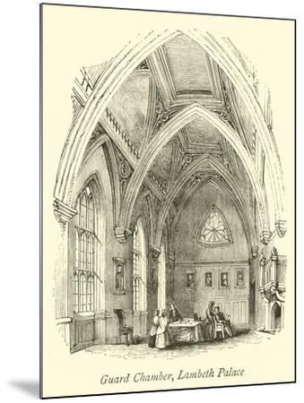 Guard Chamber, Lambeth Palace--Mounted Giclee Print