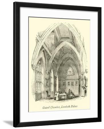 Guard Chamber, Lambeth Palace--Framed Giclee Print