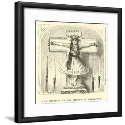 The Crucifix in the Church of Combapata-?douard Riou-Framed Giclee Print
