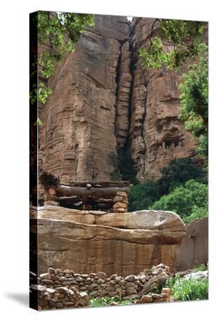 Mali, Cliff of Bandiagara--Stretched Canvas Print