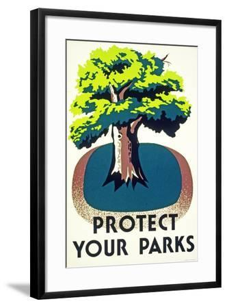 """Protect Your Parks"" 1938--Framed Giclee Print"
