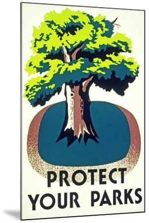 """Protect Your Parks"" 1938--Mounted Giclee Print"