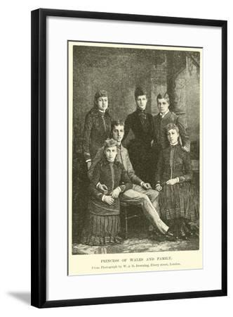 Princess of Wales and Family--Framed Giclee Print