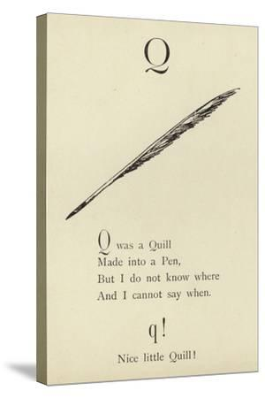 The Letter Q-Edward Lear-Stretched Canvas Print