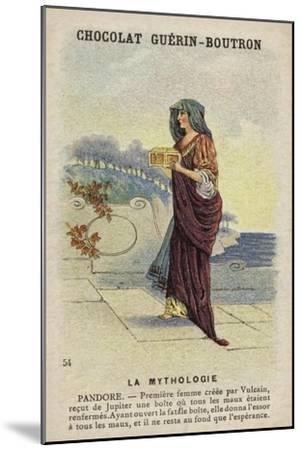 Pandora--Mounted Giclee Print