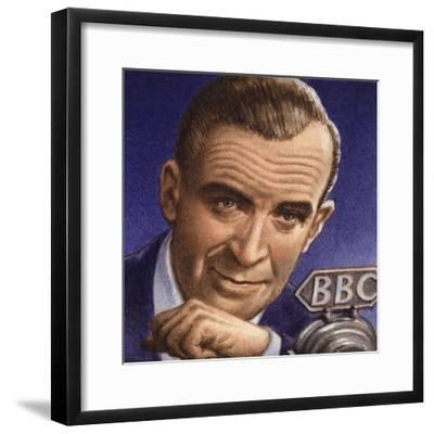 Ed Murrow Broadcasting from Blitz-Hit London-Pat Nicolle-Framed Giclee Print