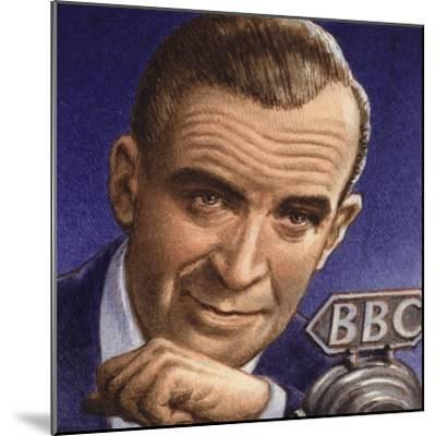 Ed Murrow Broadcasting from Blitz-Hit London-Pat Nicolle-Mounted Giclee Print