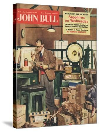 Front Cover of 'John Bull', December 1956--Stretched Canvas Print