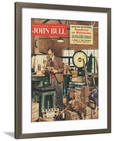 Front Cover of 'John Bull', December 1956--Framed Giclee Print