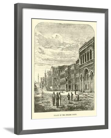 Palace of the Sublime Porte--Framed Giclee Print
